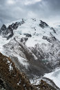 Monte Rosa with dark clouds Royalty Free Stock Photography