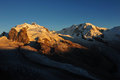 Monte Rosa and Liskamm Royalty Free Stock Photo