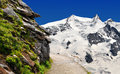 Monte rosa swiss alps beautiful mountain Stock Images