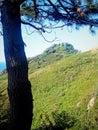 Monte Ulia in San Sebastian (Donostia) Cantabrian Coast. Guipuzcoa, Spain Pasajes Lighthouse. Royalty Free Stock Photo