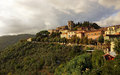 Montecatini alto italy cityscape of the upper old city sits at the top of the mountain Stock Photo