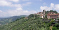 Montecatini alto view of tuscany italy Stock Photography