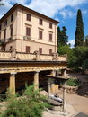 Montecatini hotels italy at a tuscan city of terme Royalty Free Stock Image