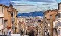 Montee de la bonne Mere in Marseilles - France Royalty Free Stock Photo
