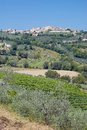 Montefalco umbria italy idyllic village of in near assisi Stock Photo