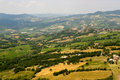 Montefeltro (Marches), landscape at summer Royalty Free Stock Photography