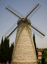 Montefiore Windmühle in Jerusalem Stockfoto