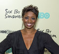 "Montego glover tony nominated actress arrives on the red carpet for the new york premiere of the hbo bio documentary ""six by Stock Photography"