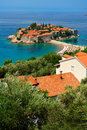 Montenegro  Island of Sveti Stefan Stock Photo