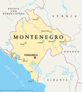 Montenegro Political Map Royalty Free Stock Photo