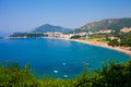Montenegro seashore becici resort view from top Stock Image