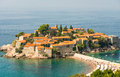 Montenegro: St. Stephen's Island Royalty Free Stock Photo