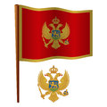 Montenegro wavy flag Royalty Free Stock Photos