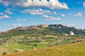 Montepulciano town view tuscany italy horizontal shot Stock Photography