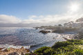 Monterey bay the scenic beauty along the california coast near Royalty Free Stock Photo