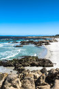Monterey sand beach california view of a along the coast of Stock Image