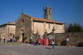 Monteriggioni italy walled city of Stock Images