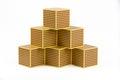Montessori golden beads cube material mathematics decimal system Royalty Free Stock Photography