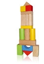 Montessori toys wooden blocks for play Stock Images