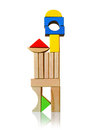 Montessori toys wooden blocks for play Stock Image