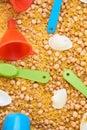 Montessory sensory texture experimentation in school Royalty Free Stock Photo