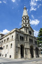 Montevideo church san francisco in the old port in uruguay Royalty Free Stock Photo