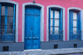 Montevideo old town facade Royalty Free Stock Photo