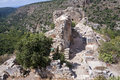 Montfort castle is a ruined crusader in the upper galilee region in northern israel Stock Photo