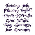 Month names of the year