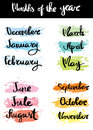 Month of the year calligraphy