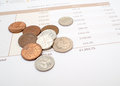 Monthly expenditure budgeting british pound sterling Stock Images