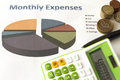 Monthly expenses plan for the future Stock Photos