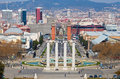 Montjuic fountain Royalty Free Stock Image