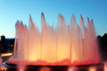 Montjuic fountain in barcelona spain the famous Royalty Free Stock Image