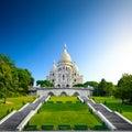 Montmartre basilica sacre coeur at sunrise Stock Photos
