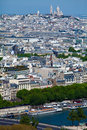 Montmartre with Basilica of the Sacred Heart, Pari Royalty Free Stock Image