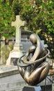 Montmartre cemetery Stock Image