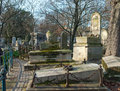 Montmartre cemetery in downtown paris france Royalty Free Stock Images