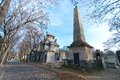 Montmartre cemetery in downtown paris france Royalty Free Stock Photo