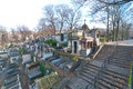 Montmartre cemetery in downtown paris france Royalty Free Stock Image