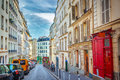 Montmartre in paris street france Royalty Free Stock Photo