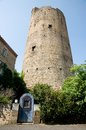 Montpeyroux france defense tower in old town in central massif auvergne Stock Photo