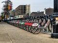 Montreal bixi bikes Royalty Free Stock Photo