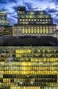 Montreal city night scene Royalty Free Stock Photo