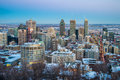 Montreal Downtown in Winter Royalty Free Stock Photo
