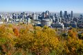 Montreal during fall foliage on a sunny day Stock Image