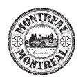 Montreal grunge rubber stamp Royalty Free Stock Photo