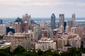 Montreal highrise view from mount royal at daytime Stock Photos
