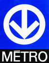 Montreal Metro (subway) sign Stock Images