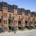 Montreal neighbourhood condominiums in quebec canada Stock Photos